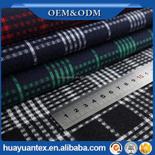 Customized yarn dyed stretch flannel fabric for clothing