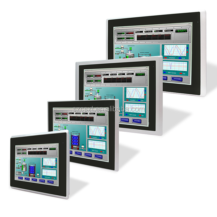 Android i3 i5 i7 fanless industrial touch panel pc all in one touch screen pc