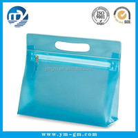 Transparent clear plastic zipper bag with handle