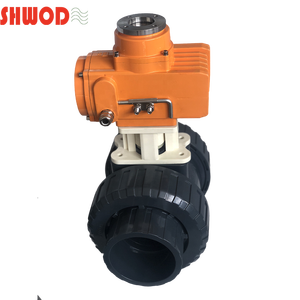 hot sale small torque electric actuated pvc ball valve