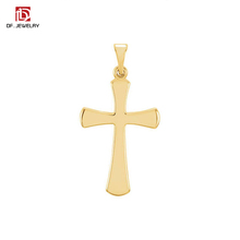 China Factory Wholesale Personalized Unique Zinc Alloy Polished Celtic Cross Pendant