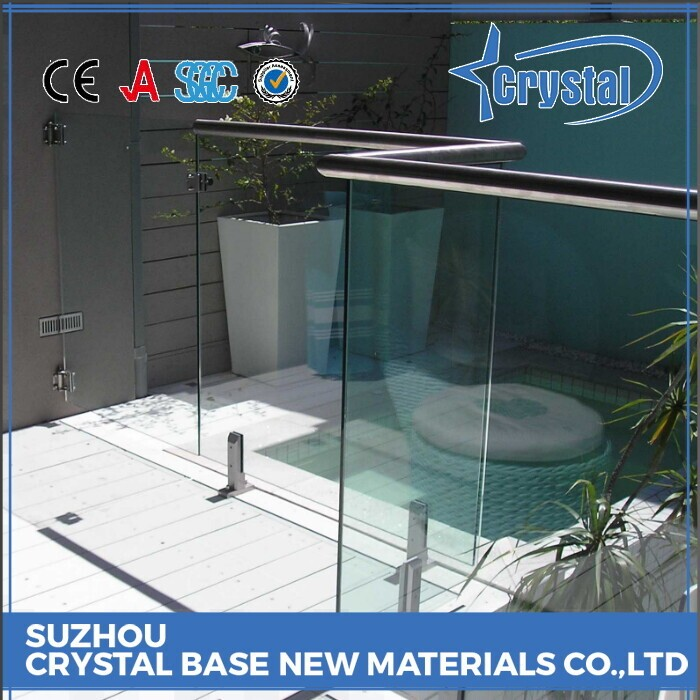 Tempered Glass Fence Panel, Curved Swimming Pool Fence Panel Material