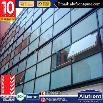 laminated tempered glass facade with aluminum frame