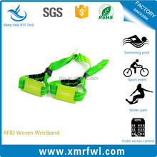 Good quality 13.56mhz printable woven rfid wristbands for events