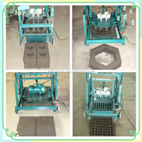 Manual small Clay cement interlocking brick making machine ,eco brava brick machine best selling machine made in china