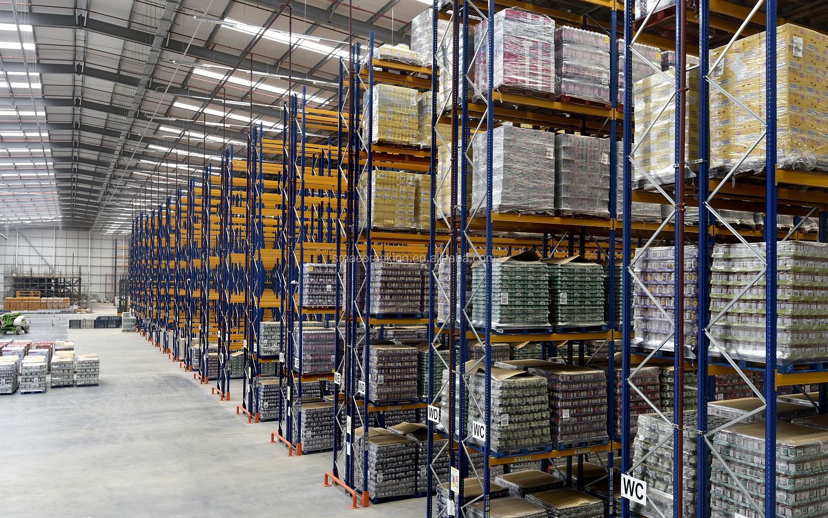 Heavy Duty Industry Warehouse Inventory Racking Double Deep Pallet Rack