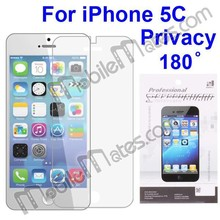 Anti Scratch Privacy 180 Degree Screen Protector Film For iPhone 5C