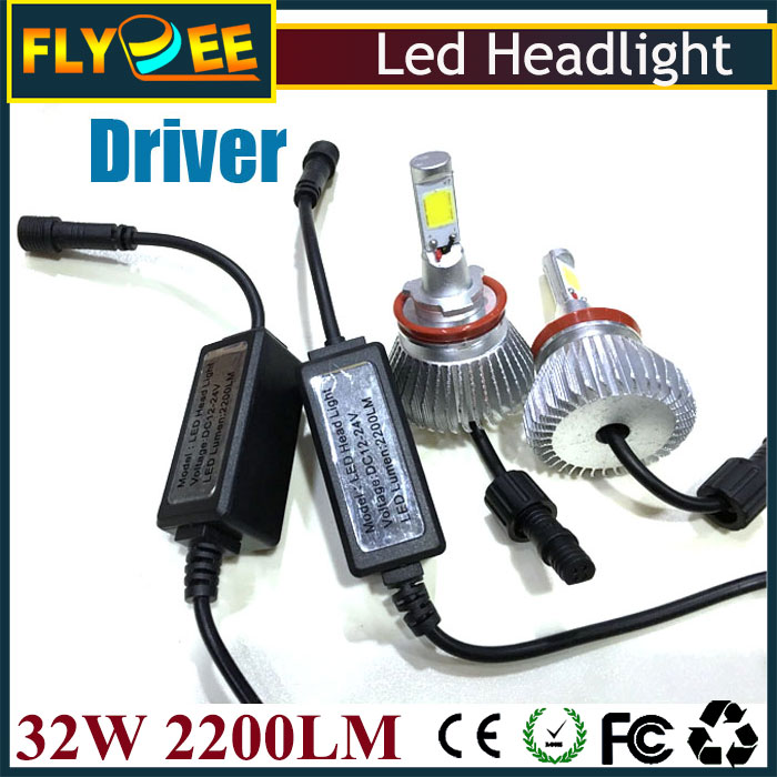 Factory cheap economic auto light fog lamp H1 H3 H4 H7 H8 H9 H11 9005 9006 880 8819004 9007 H13 32w 2200lm led car headlight