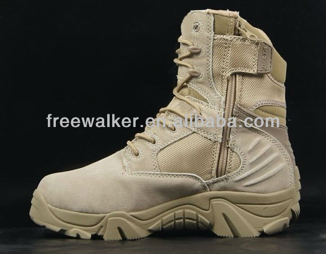 suede delta force cross-country marching mission coyote tan tactical desert boots