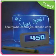 Color LCD backligh writing message chime alarm clock