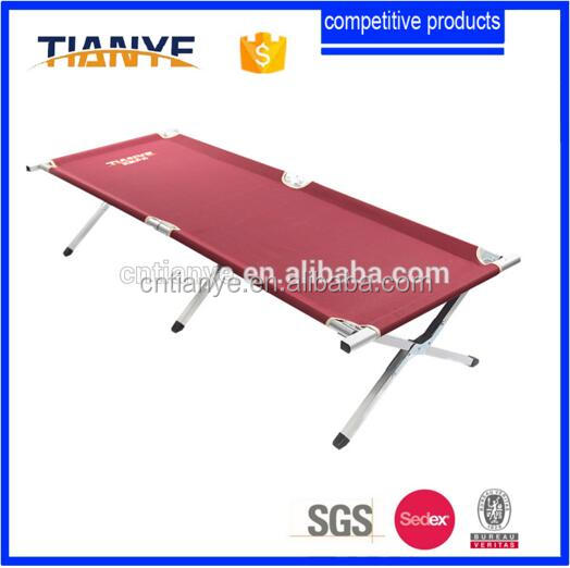 Alibaba new 2016 hot sell super military folding cot/foldable bed for picnic/aluminium camping folding bed