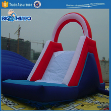 Red arch inflatable vivid colorful top quality slide