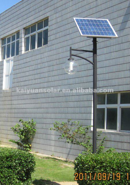 Solar pole garden light 13W