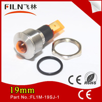 round ring 19mm panel hole 24v metal Amber LED railway signal light