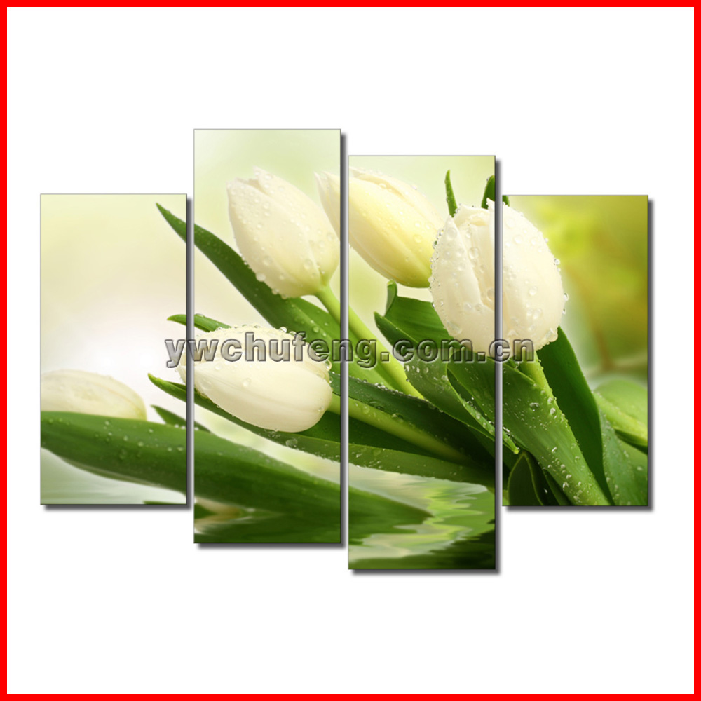 HD Canvas Print home decor wall art painting Picture-tulip flower 4PC Noframe