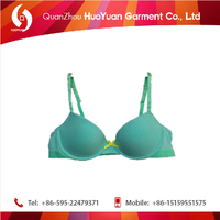 Wholesale more cheaper huoyuan lovely girl green bra panty