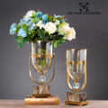 Home decorative luxury Modern glass flower vase