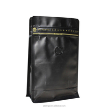 Moisture proof food grade unique coffee packaging with zipper