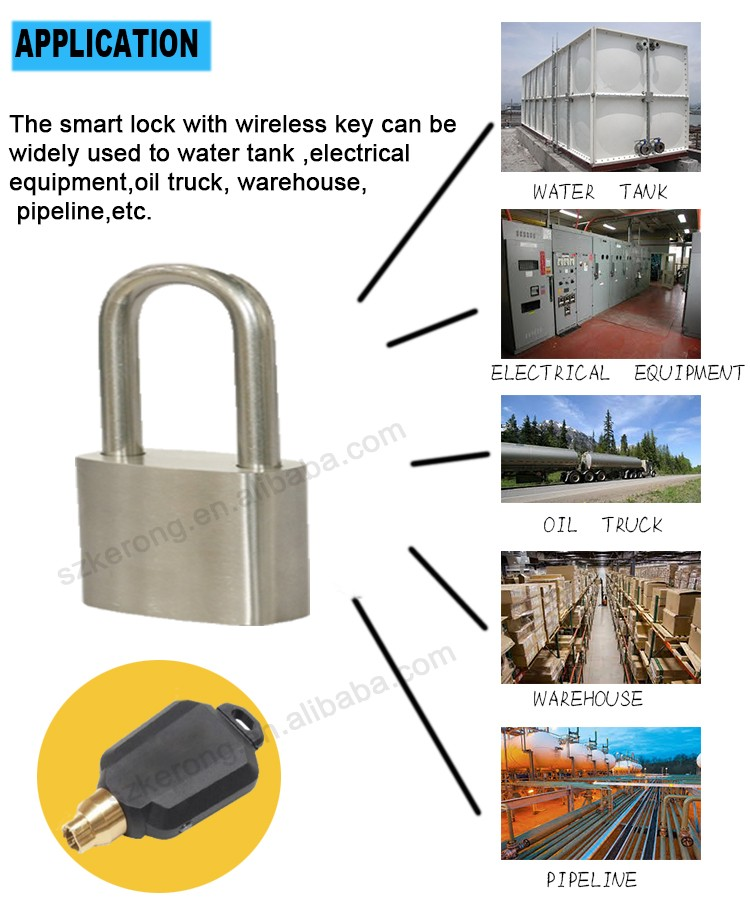 India hot sale electronic storage padlock