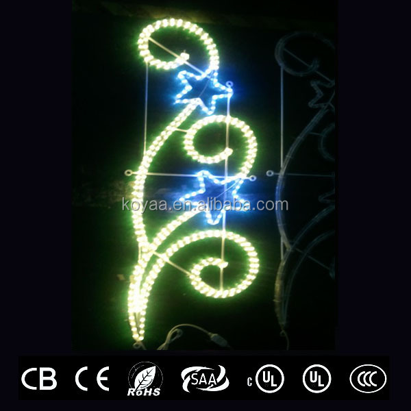 GS, CE, CB, SASO, PSE,UL, CUL approved pole mounted LED motif lights