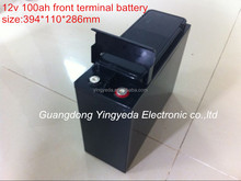 12V100AH Rechargeable pure front terminal lead acid battery for solar inverter