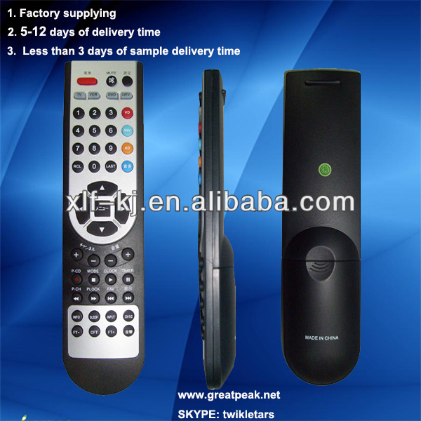 052A China manufacturer black and silver good price universal led tv remote control