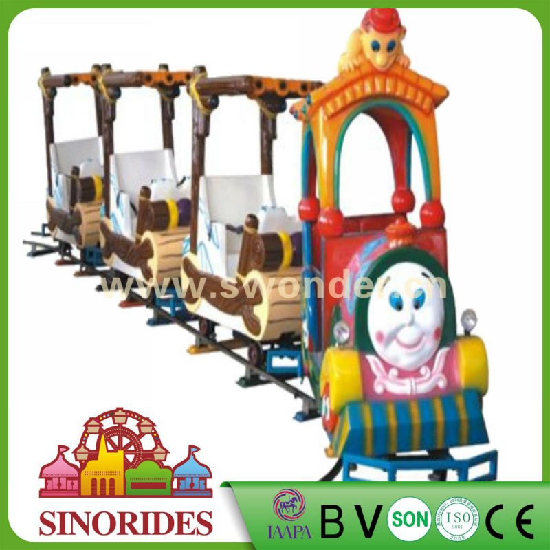 Outdoor amusement park rides mini kids train, theme park rides track train for sale