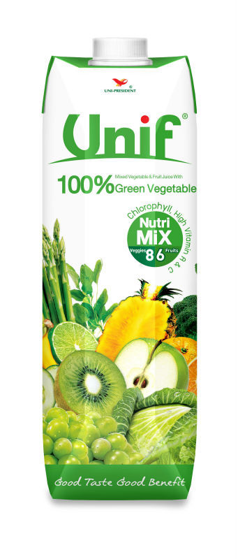 100% Mixed Fruit and Green Vegetable Juice