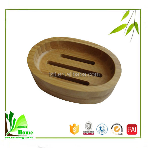 Customized natural bamboo bathroom accessories soap dispenser