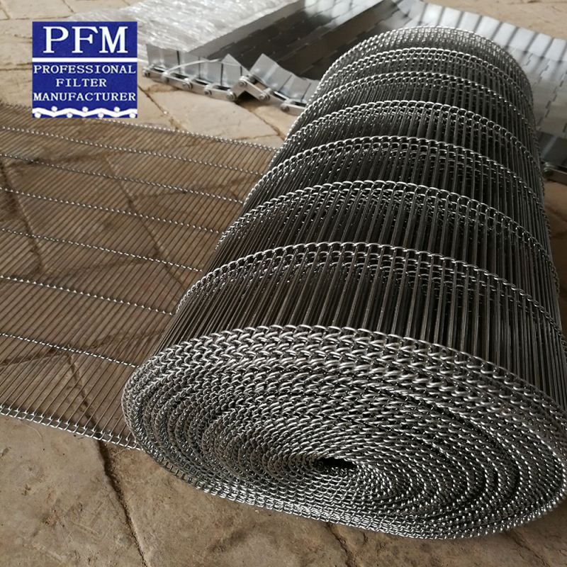 chain drive roller link conveyor belt mesh wire weave band