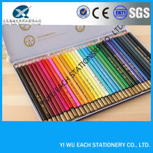"2017 hottest gift 7"" wooden multi color dip tip drawing pencil set in an iron box yiwu pencil factories,pencils with logo"