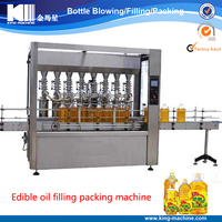 Automatic 500ml oil bottle filling sealing machine