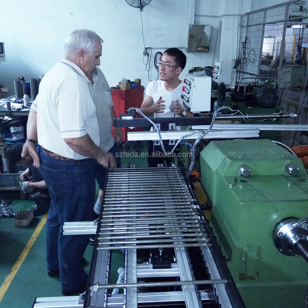 FEDA automatic double head thread rods making machine used thread rolling machine