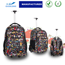 Teens school trolley bags wheeled backpacks rolling duffel with back straps