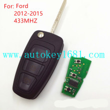 MS 2012-2015 3 button remote key 433mhz 4d63 (80bit) transponder chip for ford focus