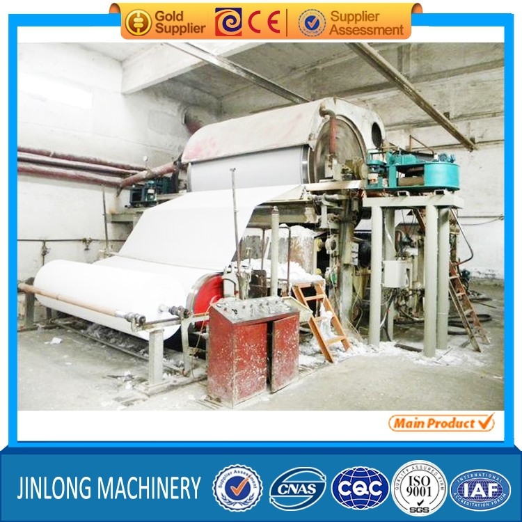 5T/D 1750mm Financial Analysis of Pulp and Waste Paper Recycling Jumbo Roll Toilet Tissue Paper Roll Making Machine