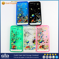 Mobile Phone Moving Glitter Case For iPhone 5 5s