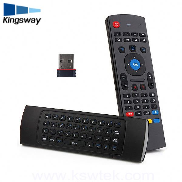 2.4G 37Keys Wireless Android Tv Box Remote Control , Full Mini Keyboard Air Mouse For Android Tv Box
