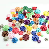 high end 2 parts round flat colorful sewing plastic snap button for kidswear