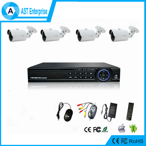 4ch cctv dvr kit security camera system outdoor Cheap cctv 4 camera ahd kit hi3520d dvr kit