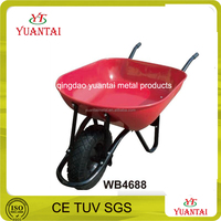 decorative steel garden wheelbarrow concrete buggy construction sheelbarrow WB4688