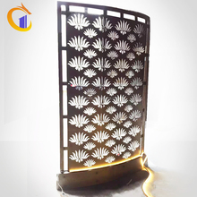 Customized size freestanding metal curved room screen room divider