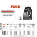 high quality radial truck tire FIRELION 255/70R22.5 FS05 for steer or tralier