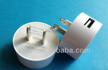 2013 new design Single usb 1A mobile phone travel charger