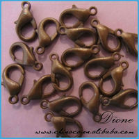 Nickel Free,Jewelry Accessories Findings Fittings-Gun Metal Plated 10mm Lobster Claws Clasp
