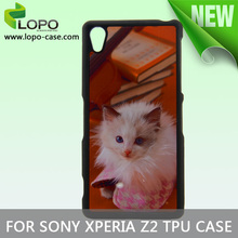 Latest 2D sublimation TPU case for Sony Z2