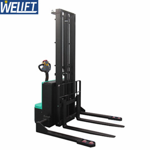 1500kg 2000kg 3m 4m 4.5 m 5m New Warehouse Forklift Staddle Electric Pallet Stacker