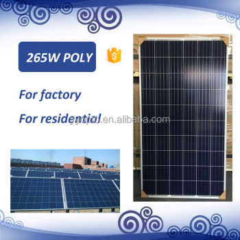 high quality 265w poly solar panel/module for 48v system