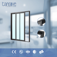tansive construction heat insuolation top rated aluminum frame sliding glass doors