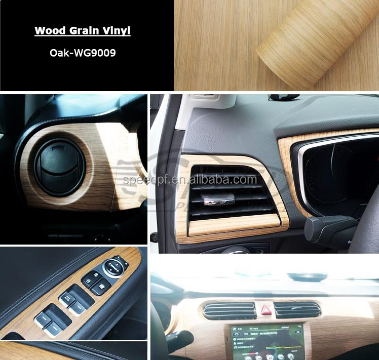 Hot sale Speed Performance pvc adhesive car interier wrapping oak vinyl wood floor